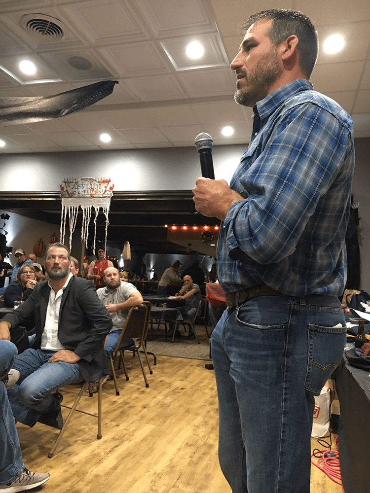 Nick Ackerman Speaks at Sidney Montana Wrestling Club Event